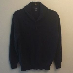 Men's navy J crew sweater w/ shawl collar: Size M